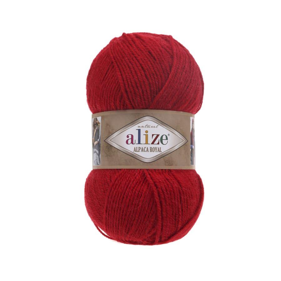 ALPAKA ROYAL Red Альпака Роял (код цвета 56: красный).