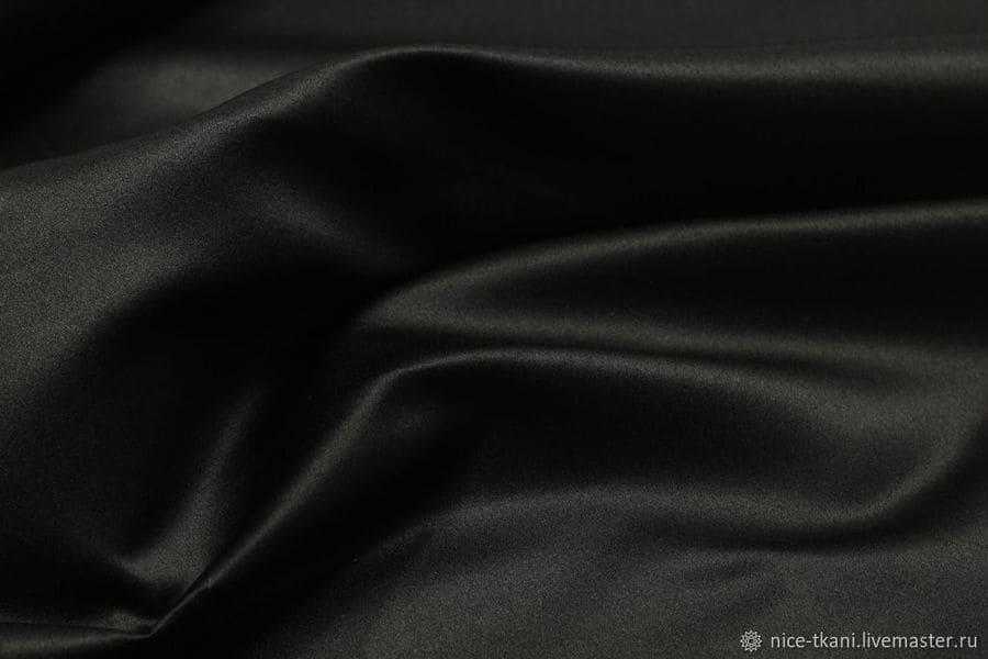 Ткань костюмно-платеная Атлас (черный)