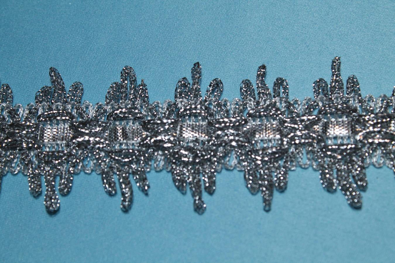 Тесьма металлизированная серебренная
