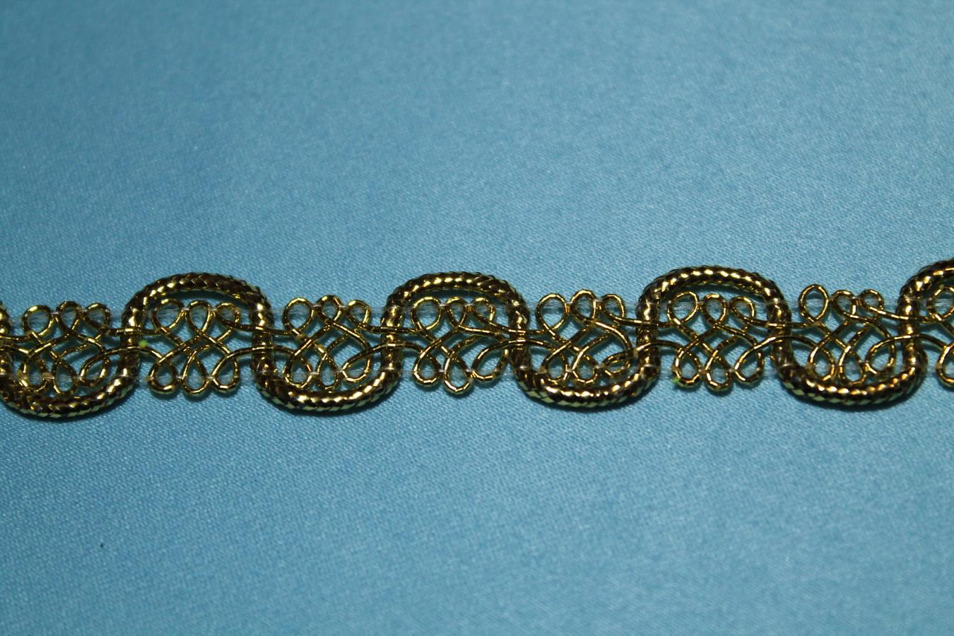 Тесьма металлизированная декоративная золотая