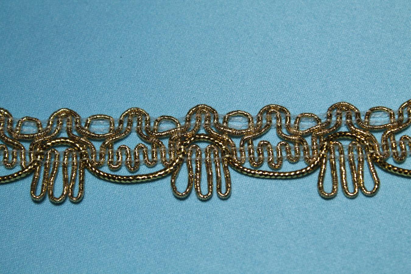 Тесьма металлизированная декоративная