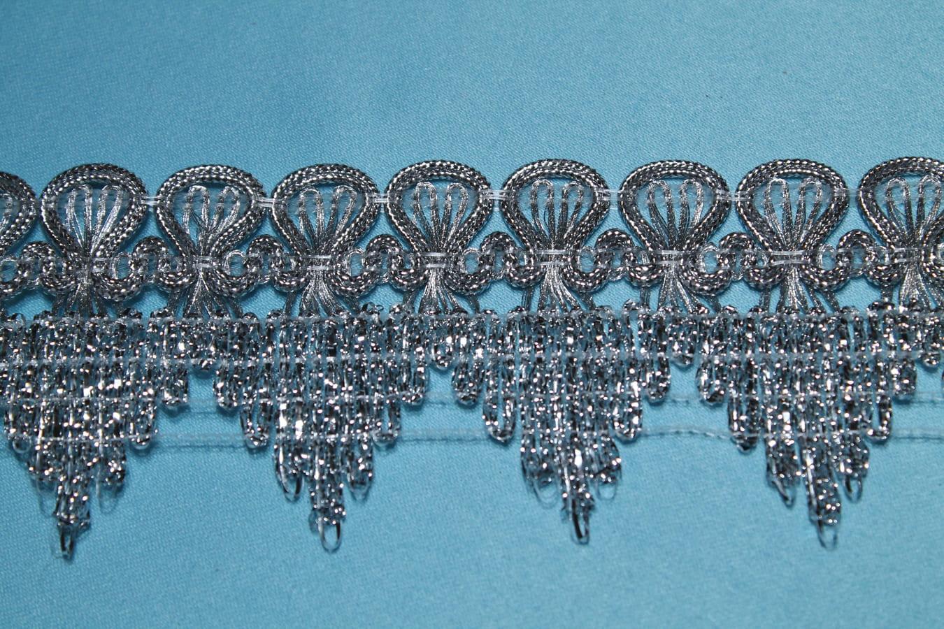 Бахрома металлизированная отделочная с зубчиками