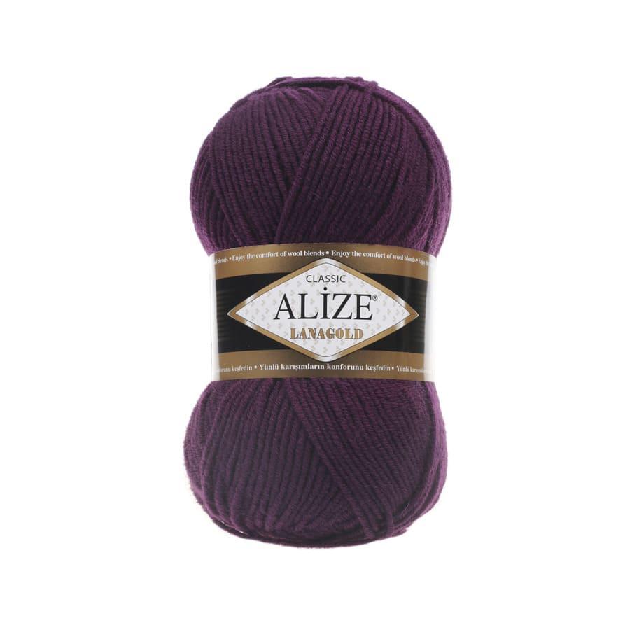 Пряжа LANAGOLD (Alize), цвет 111 сливовый