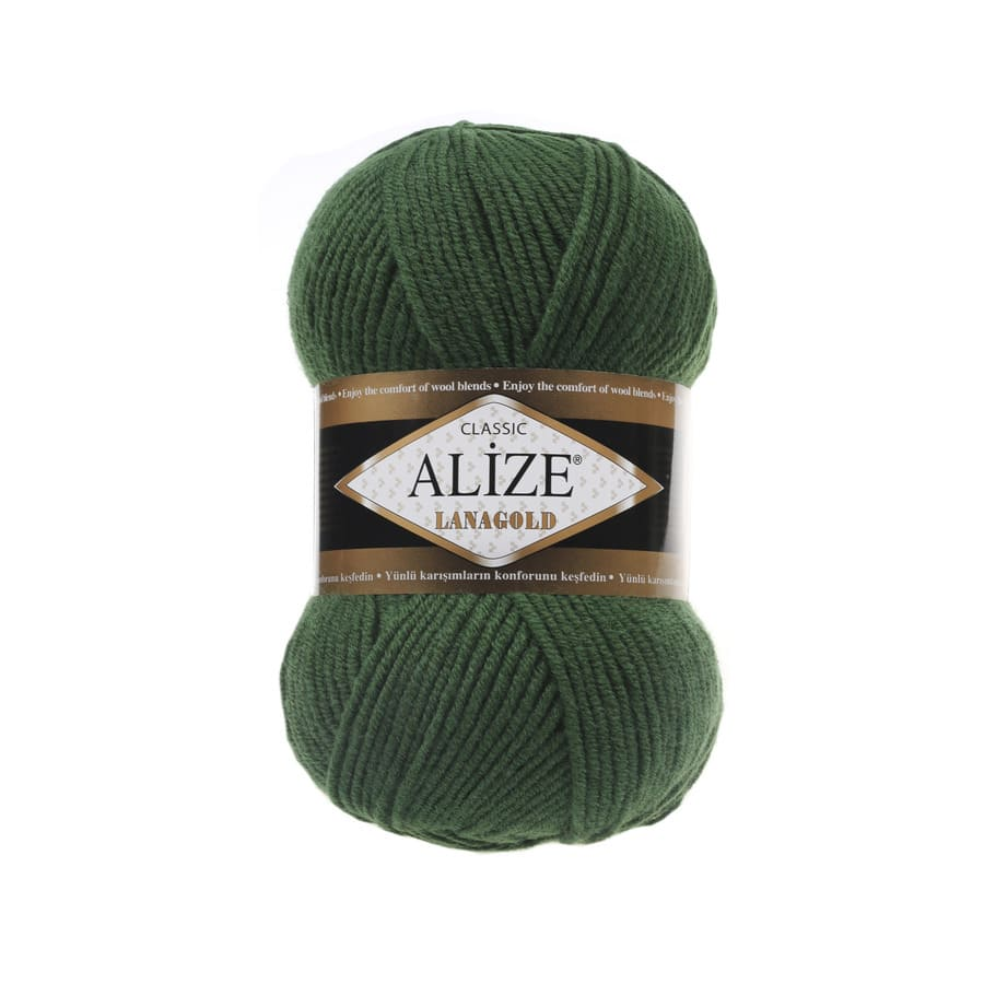 Пряжа LANAGOLD (Alize), цвет 118 зеленая трава