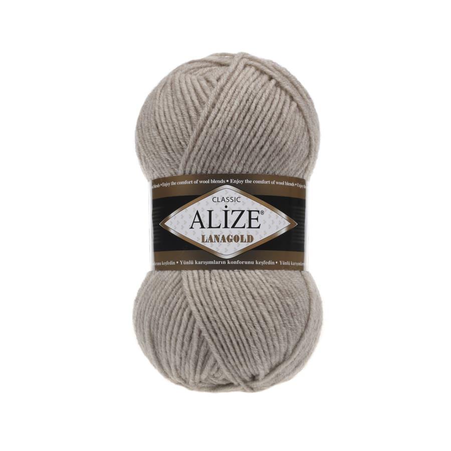 Пряжа LANAGOLD (Alize), цвет 152 бежевый меланж