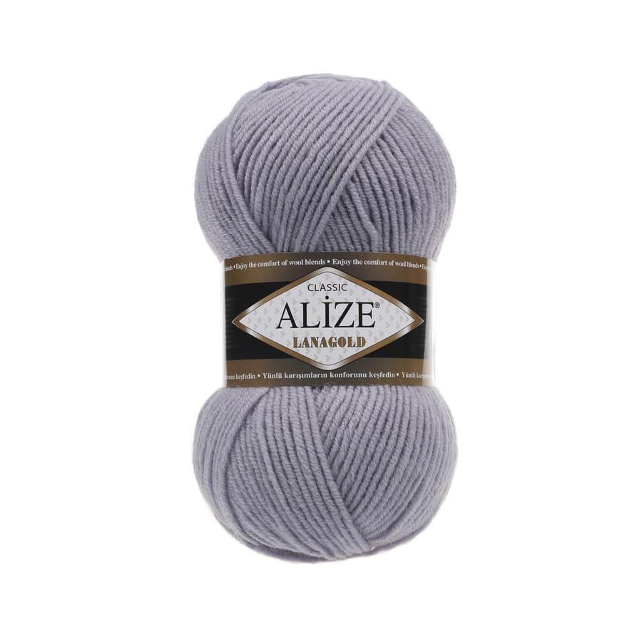 Пряжа LANAGOLD (Alize), цвет 200 светло-серый