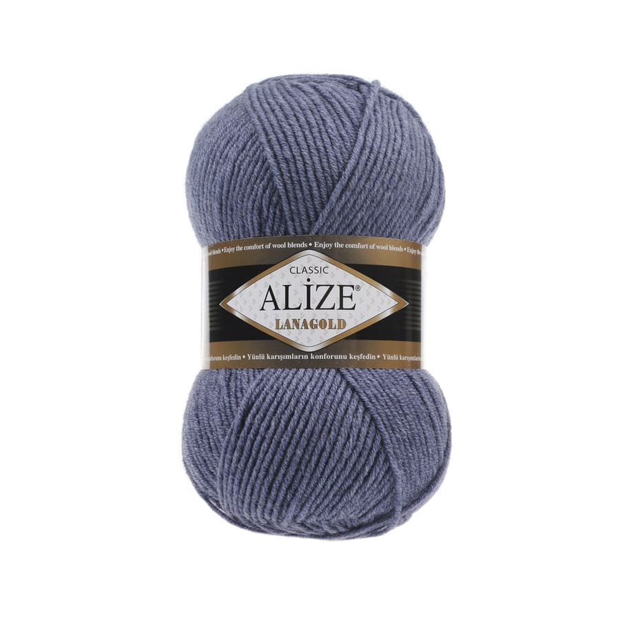 Пряжа LANAGOLD (Alize), цвет 203 джинс меланж