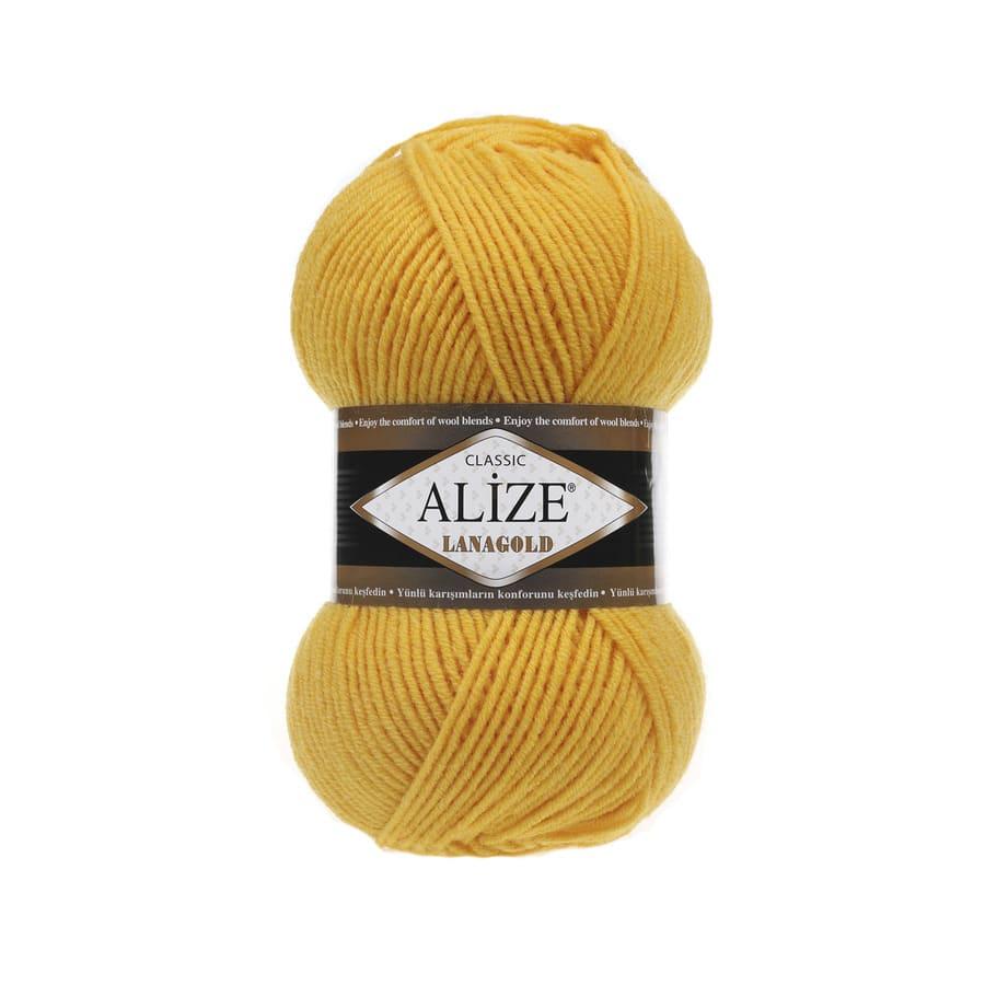 Пряжа LANAGOLD (Alize), цвет 216 желтый