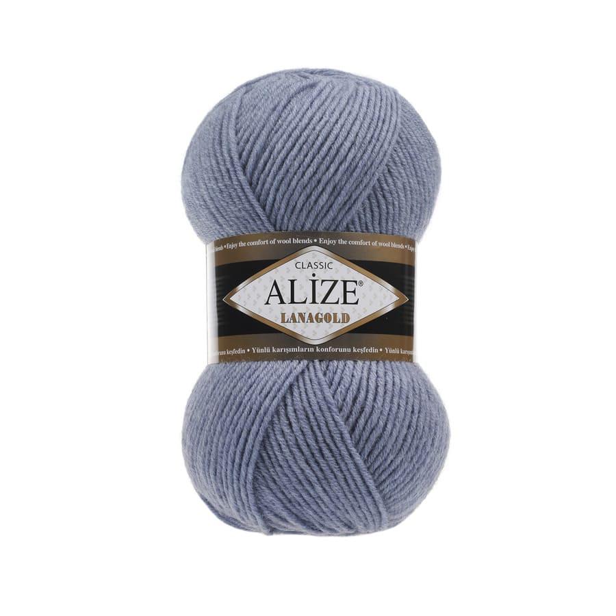 Пряжа LANAGOLD (Alize), цвет 221 светлый джинс