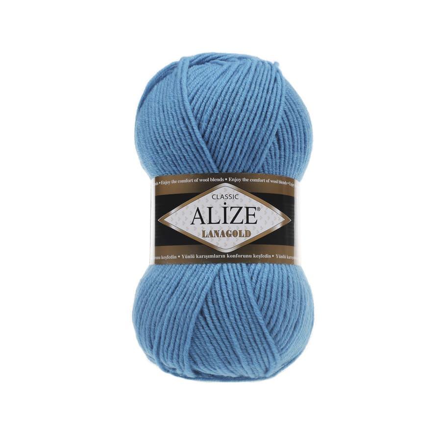 Пряжа LANAGOLD (Alize), цвет 245 бирюзовый