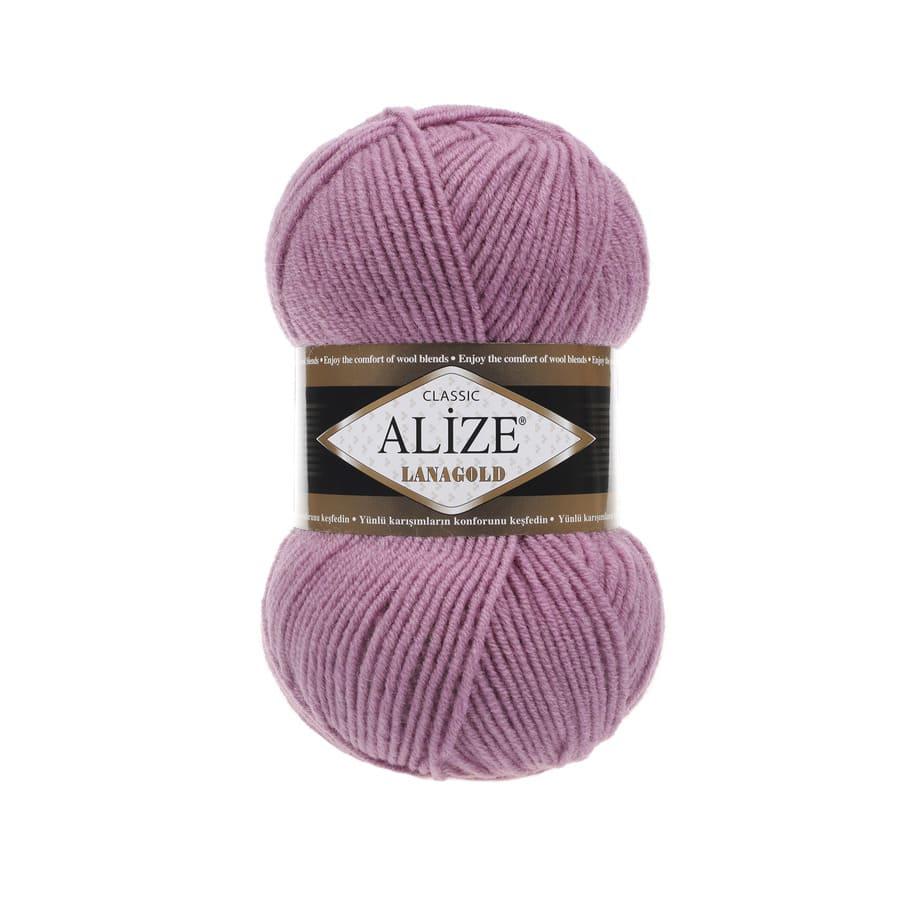Пряжа LANAGOLD (Alize), цвет 28 сухая роза