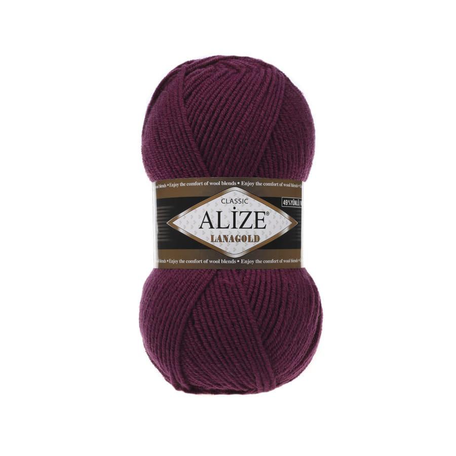 Пряжа LANAGOLD (Alize), цвет 307 гнилая вишня