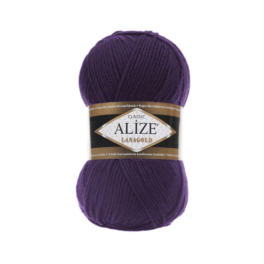Пряжа LANAGOLD (Alize), цвет 388 пурпурный
