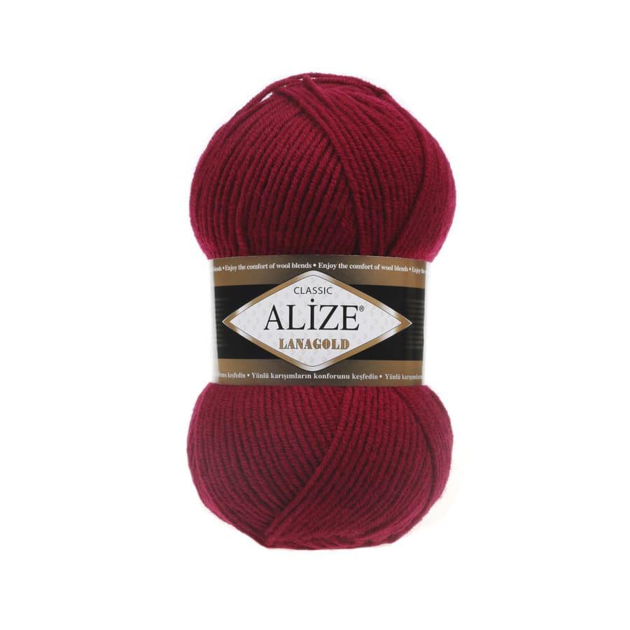 Пряжа LANAGOLD (Alize), цвет 390 вишня