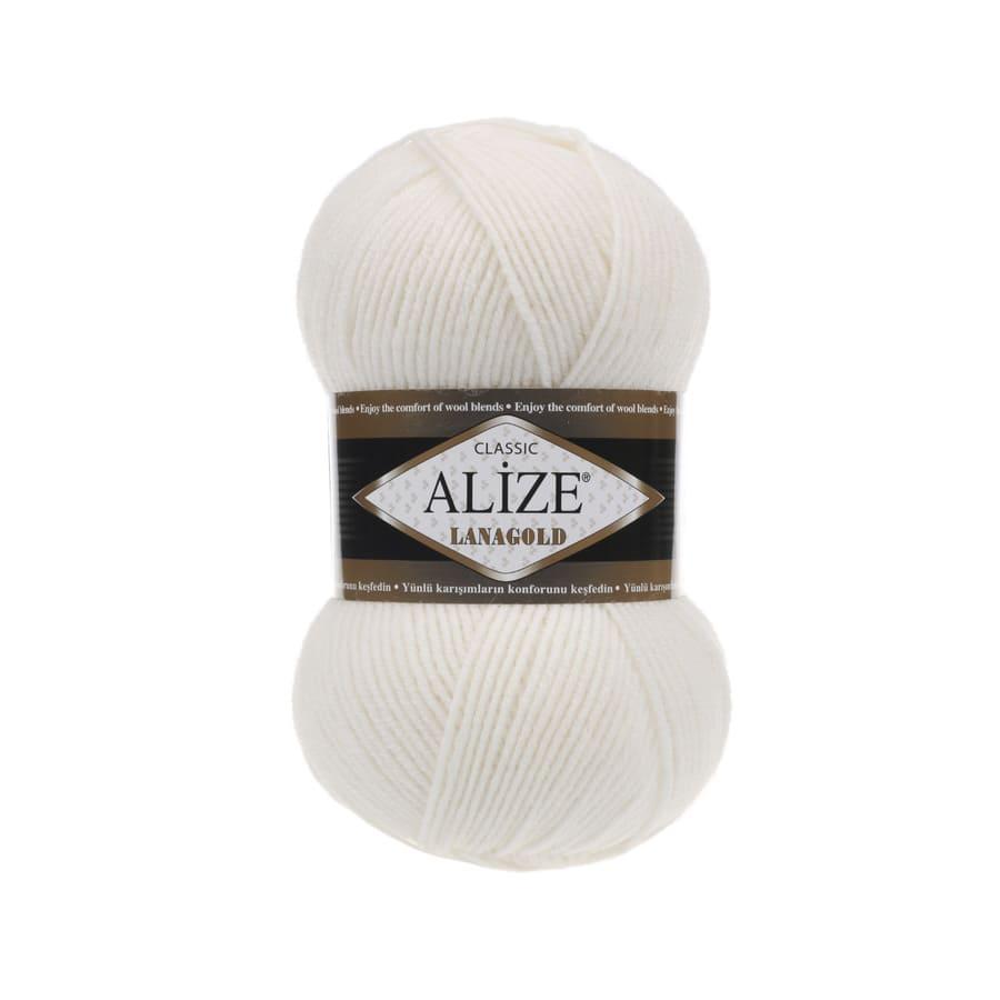 Пряжа LANAGOLD (Alize), цвет 450 жемчужный