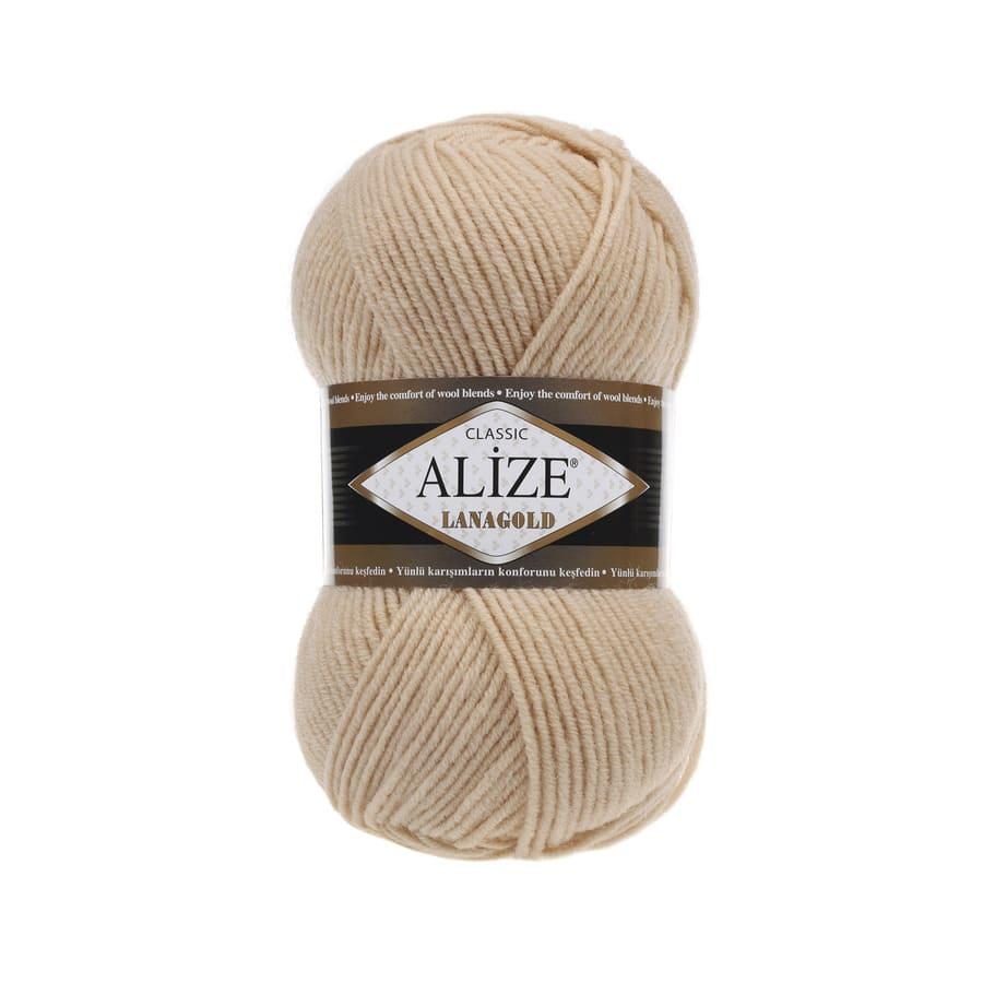 Пряжа LANAGOLD (Alize), цвет 680 медовый