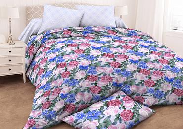 Ткань постельная Бязь набивная 2.2 м (Мирабель) Красная талька