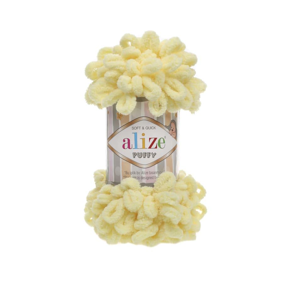 Пряжа PUFFY (Alize), цвет 13 светло-желтый