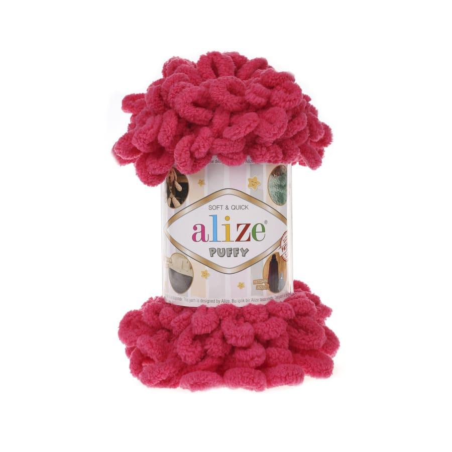 Пряжа PUFFY (Alize), цвет 149 темная фуксия