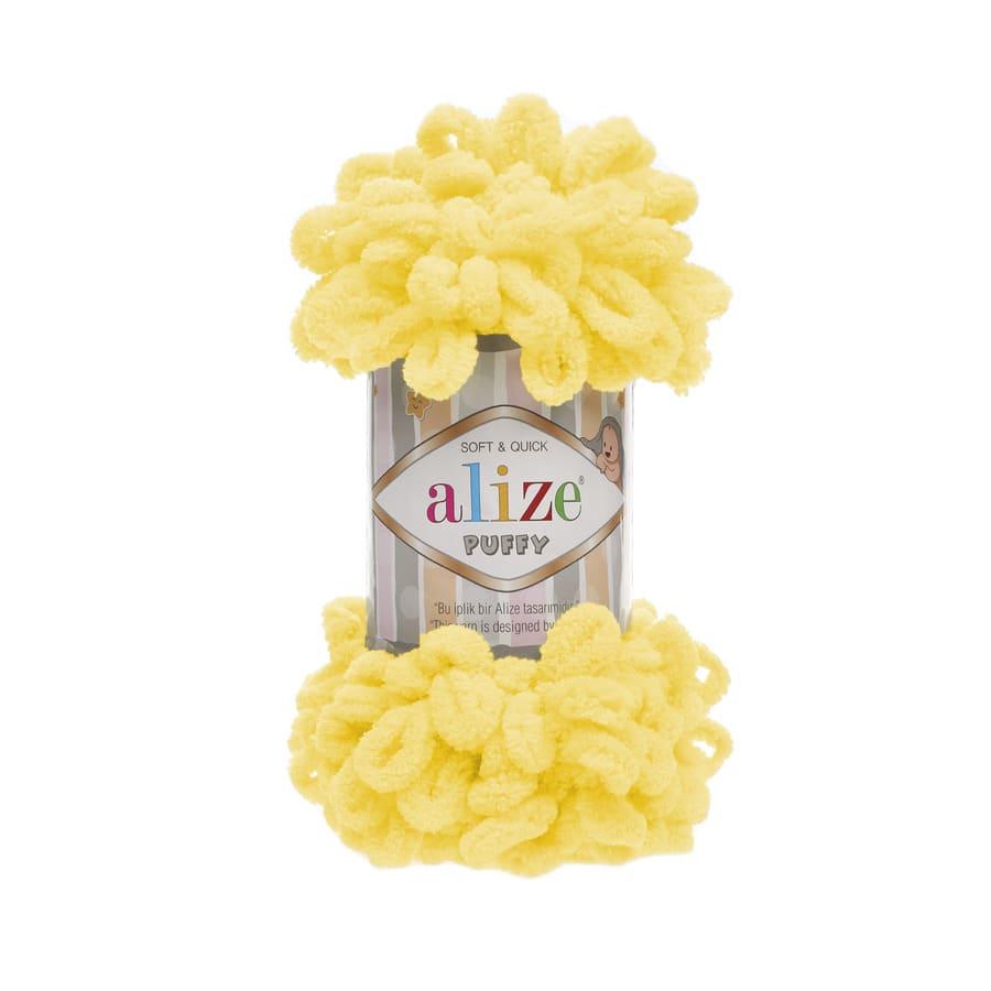 Пряжа PUFFY (Alize), цвет 216 желтый