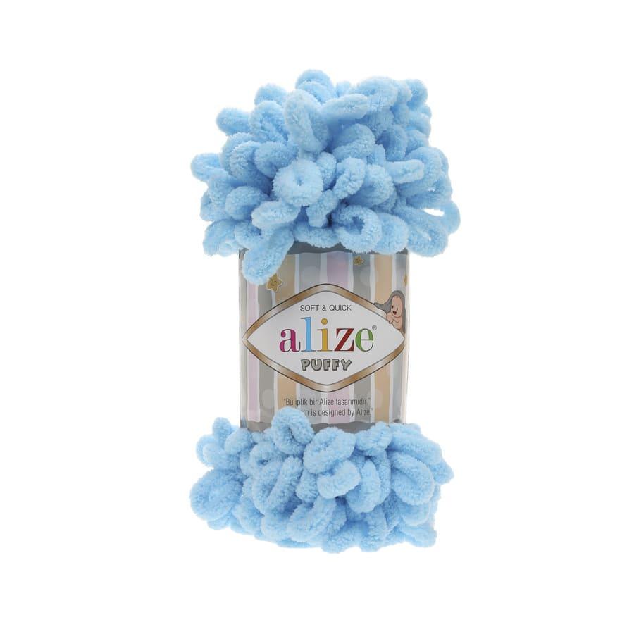 Пряжа PUFFY (Alize), цвет 287 светло-бирюзовый