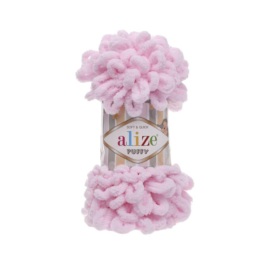 Пряжа PUFFY (Alize), цвет 31 детский розовый