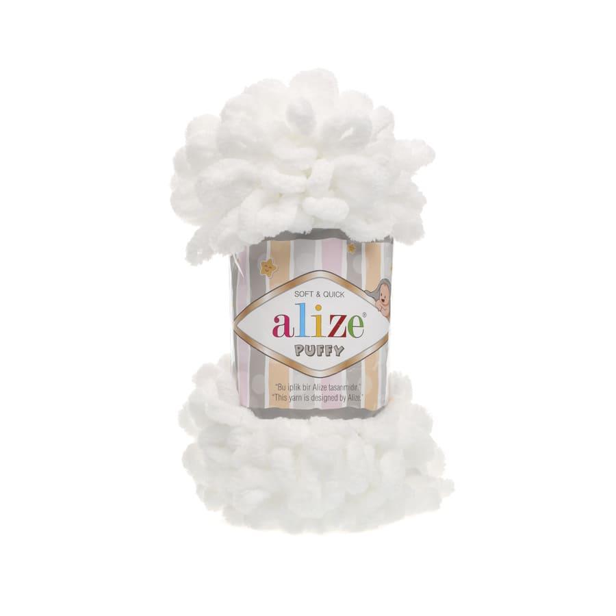 Пряжа PUFFY (Alize), цвет 55 белый
