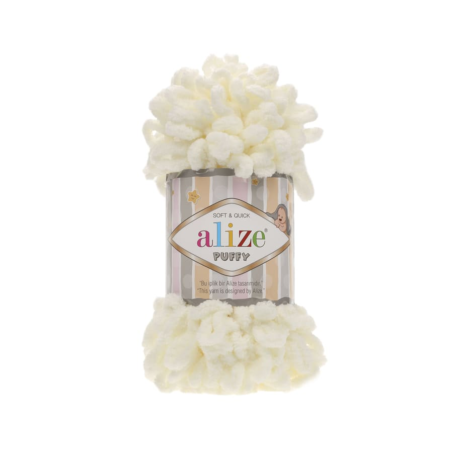 Пряжа PUFFY (Alize), цвет 62 светло-молочный