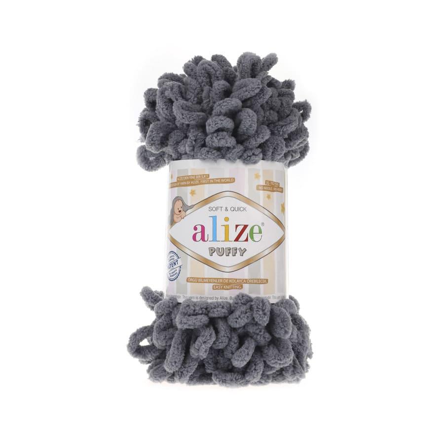 Пряжа PUFFY (Alize), цвет 87 угольно-серый