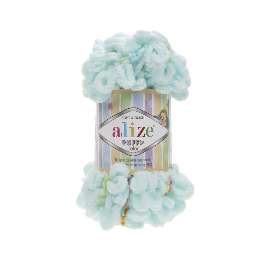 Пряжа PUFFY COLOR(Alize), цвет 5860