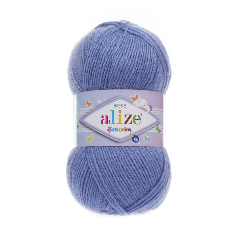 Пряжа Sekerim BEBE  (Alize), цвет 112 джинс