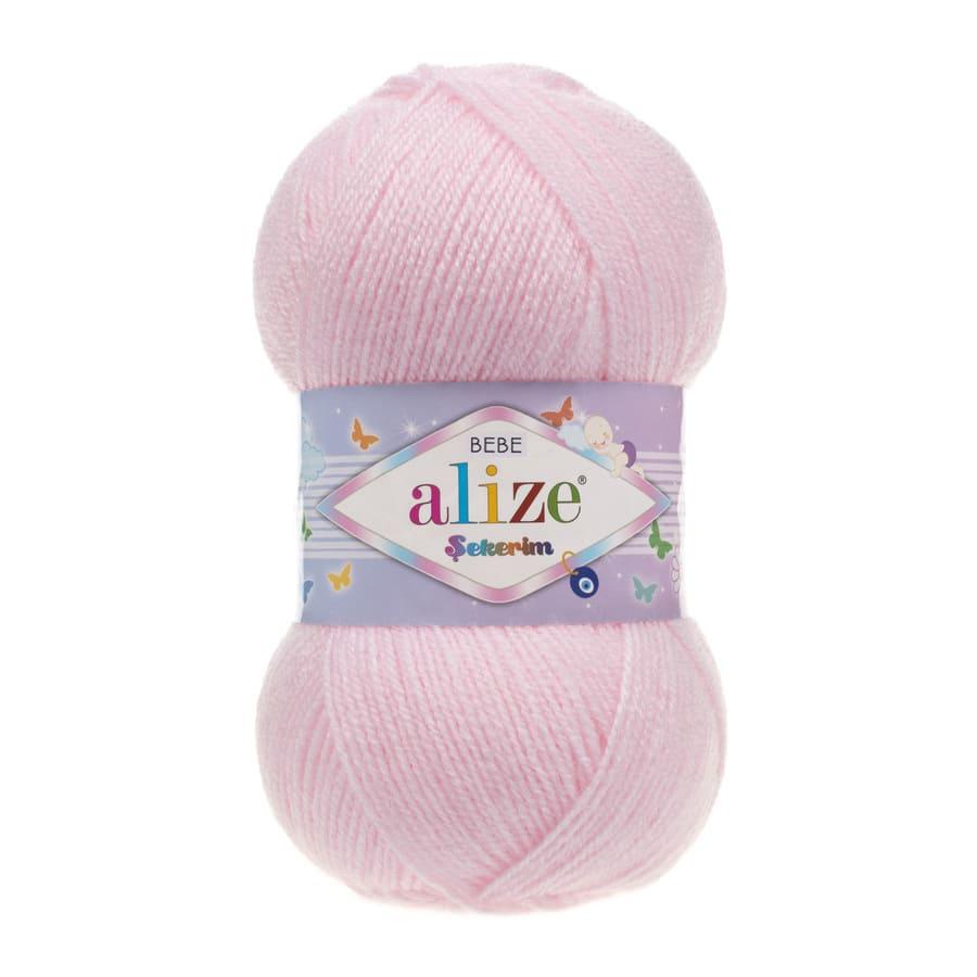 Пряжа Sekerim BEBE  (Alize), цвет 184 светло-розовый