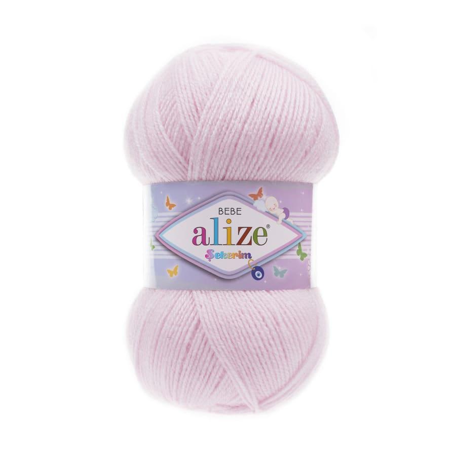 Пряжа Sekerim BEBE (Alize), цвет 185 детский розовый