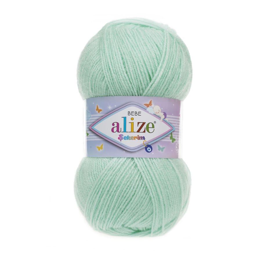Пряжа Sekerim BEBE  (Alize), цвет 19 водяная зелень