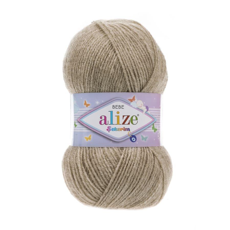 Пряжа Sekerim BEBE  (Alize), цвет 599 бежевый меланж