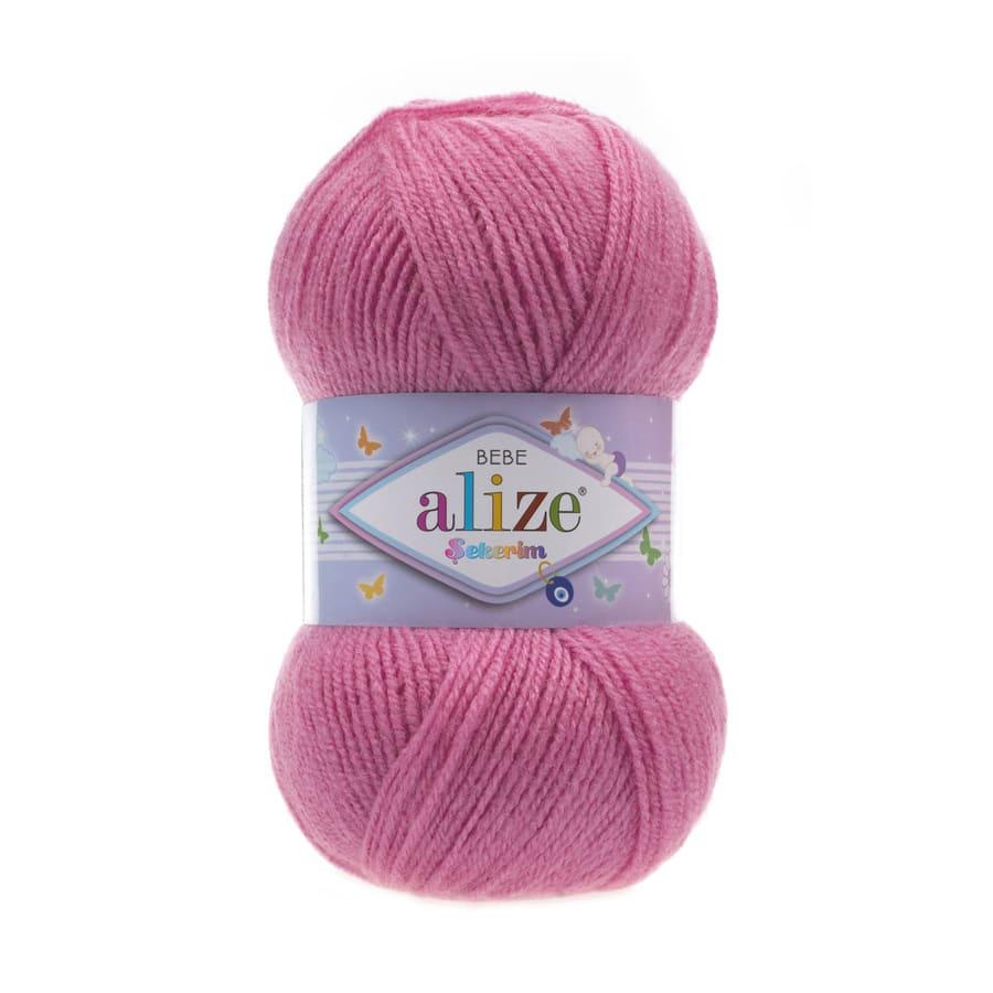 Пряжа Sekerim BEBE  (Alize), цвет 246 розовый