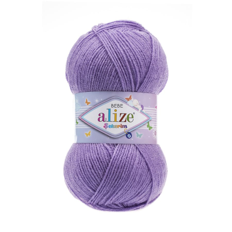 Пряжа Sekerim BEBE  (Alize), цвет 247 сиреневый