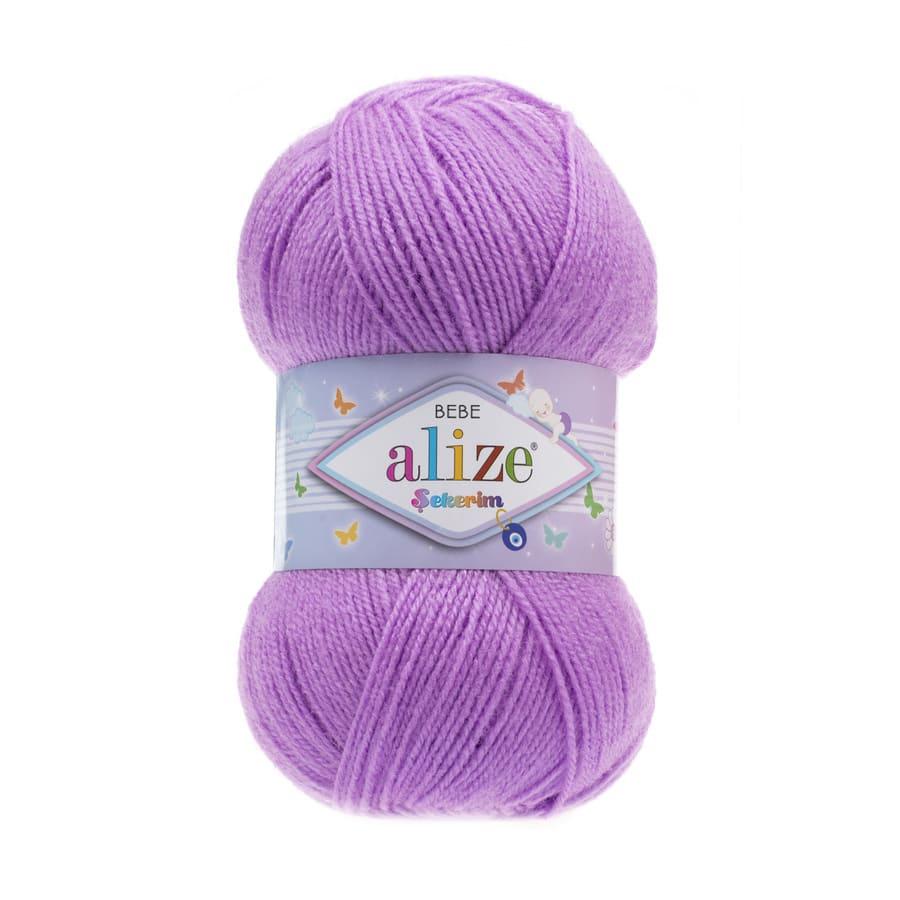 Пряжа Sekerim BEBE  (Alize), цвет 290 багряник