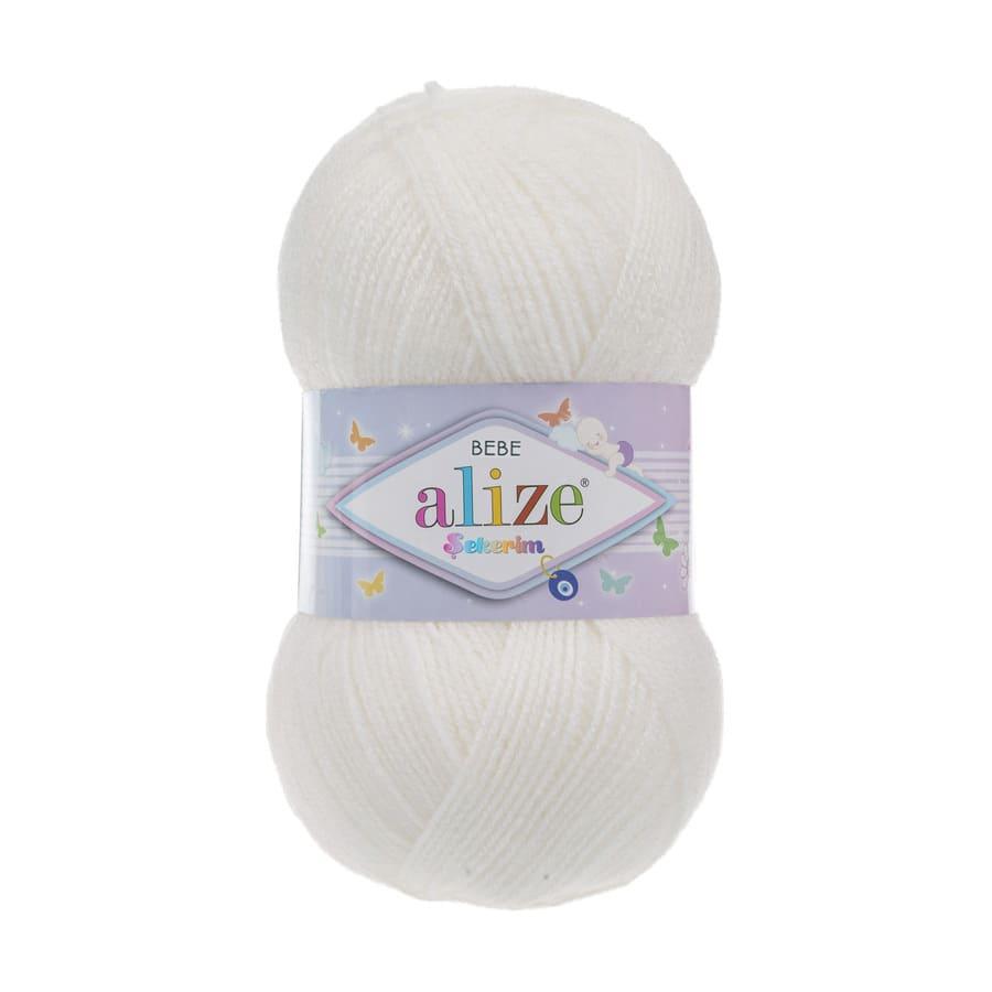 Пряжа Sekerim BEBE  (Alize), цвет 450 жемчужный