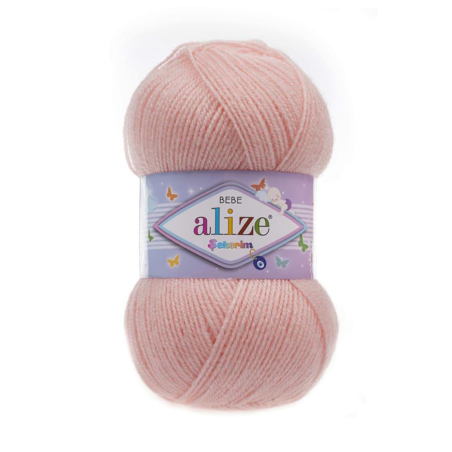 Пряжа Sekerim BEBE  (Alize), цвет 517 светло-персиковый