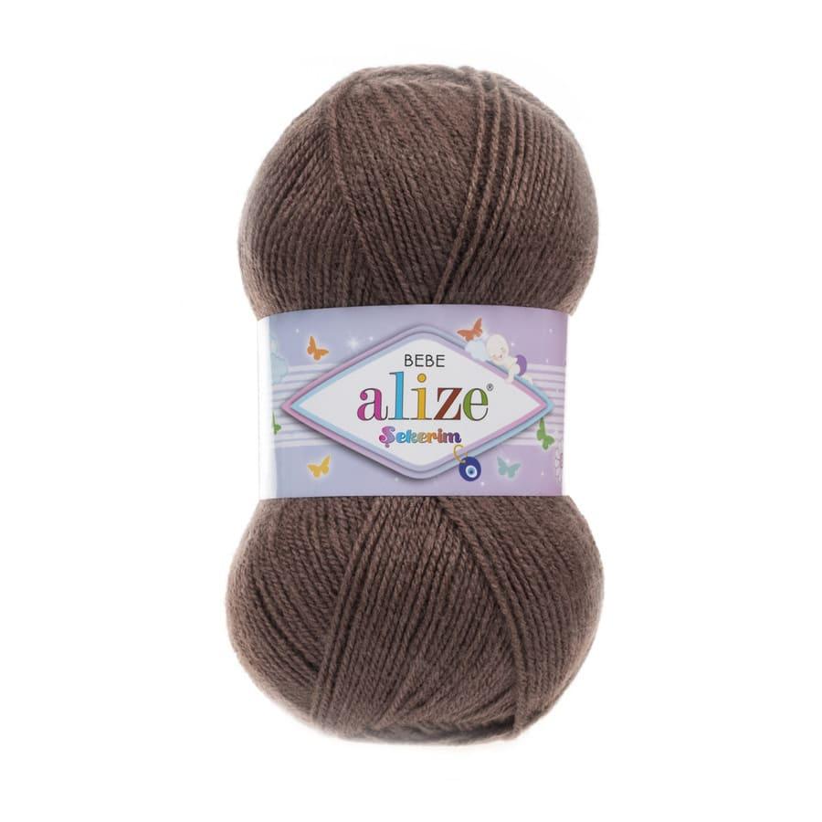 Пряжа Sekerim BEBE  (Alize), цвет 534 светло-коричневый