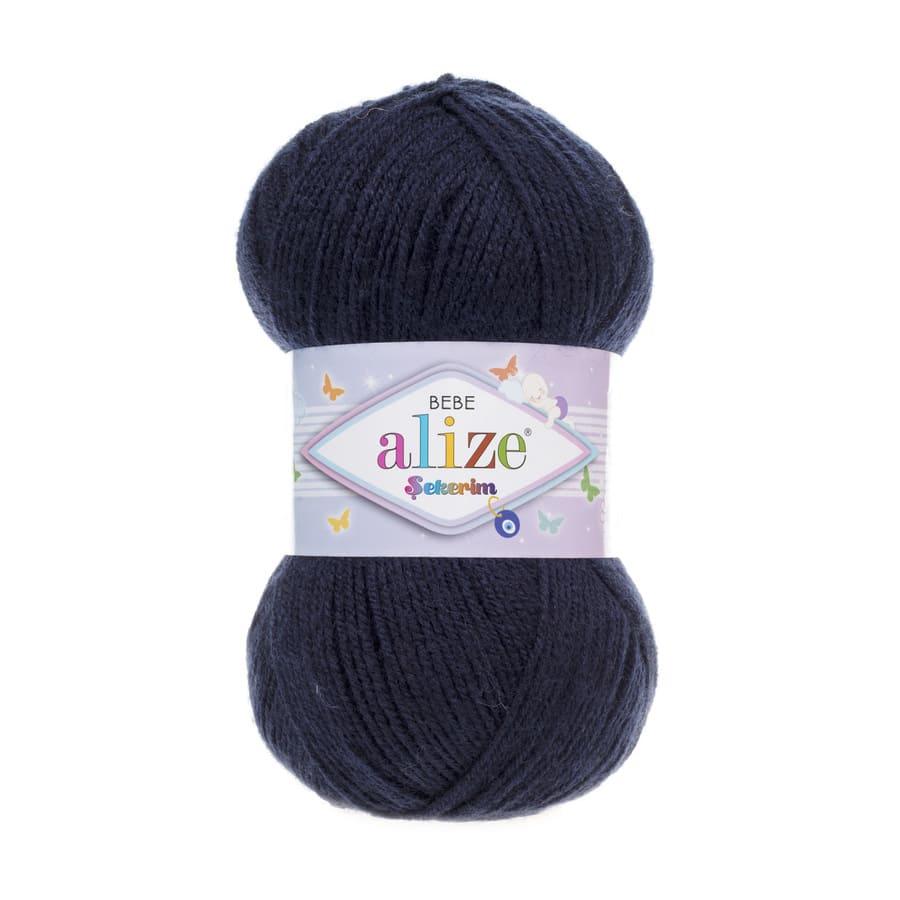 Пряжа Sekerim BEBE  (Alize), цвет 58 темно-синий