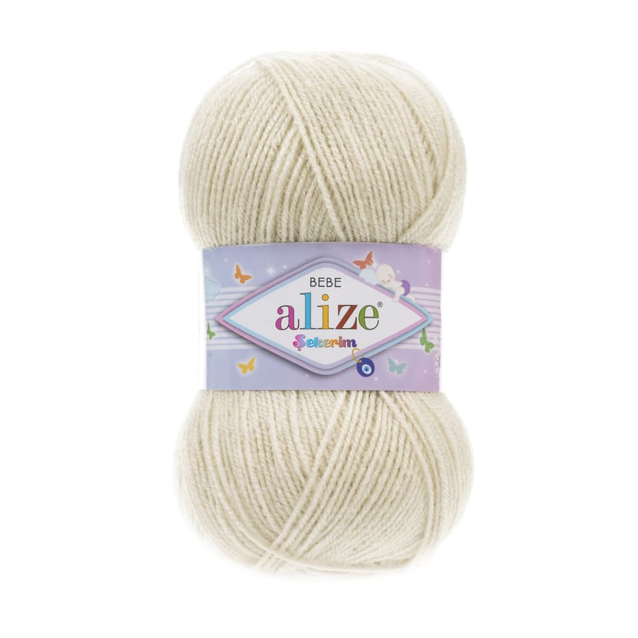 Пряжа Sekerim BEBE  (Alize), цвет 599 слоновая кость