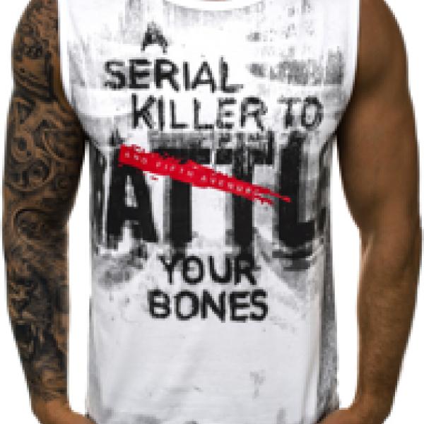 Джемпер мужской (футболка без рукавов c надписями)