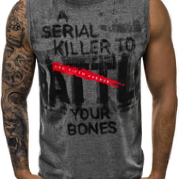 Джемпер мужской (футболка без рукавов с надписями)