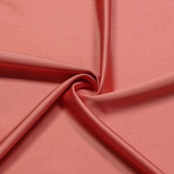 Ткань костюмно - плательная Атлас (караловый)