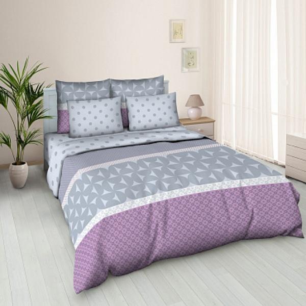 Ткань постельная Бязь набивная 2.2 м (Полка) Красная талька