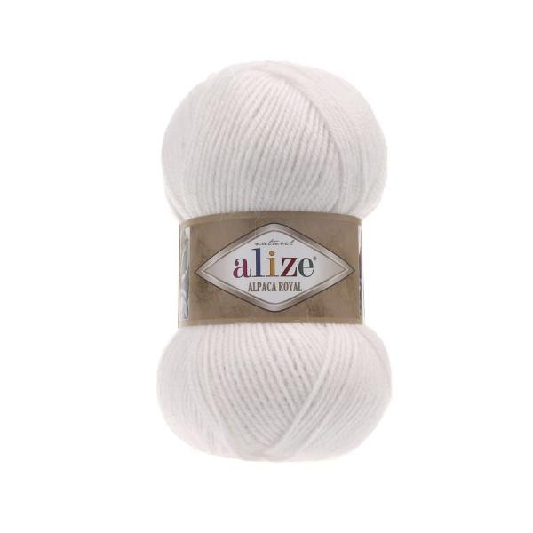 ALPAKA ROYAL White Альпака Роял (код цвета 55: белый).