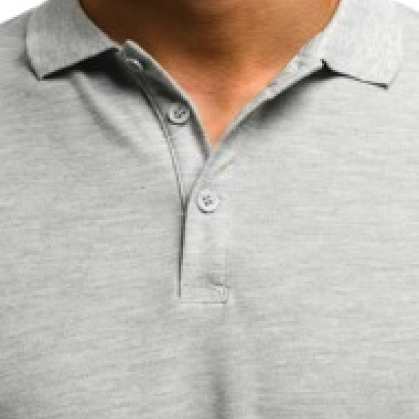 Мужской джемпер-поло. серый