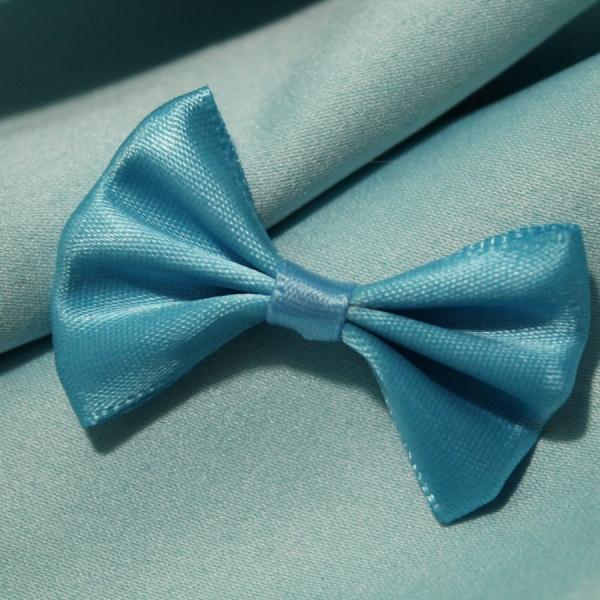 Бантик атласный 3х4.7см синий